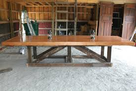 diy rustic dining table plans farmhouse large room free bench