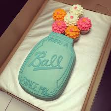 mason jar birthday cake sooo cute need now kids birthday cakes