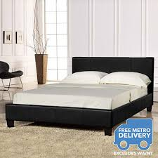 Leather Upholstered Bed Pu Leather Upholstered Bed Frame 5 Sizes 3 Colours Buy King Size