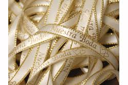 personalized ribbon for favors 15 00 per roll of nuestra boda preprinted ribbon