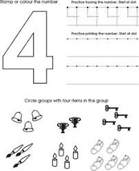 freebie free number 3 worksheet count and trace for preschool