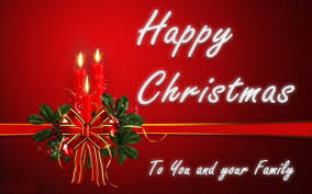 card message for family lights decoration