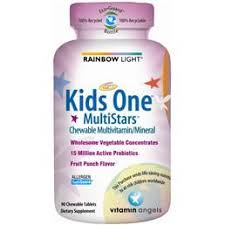 rainbow light kids one rainbow light kids one multistars 30 chewable tabs for my big kid