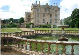 aerial shot montacute house where one of the oldest monterey