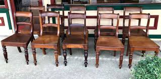 set of 10 antique australian cedar farmhouse chairs the merchant
