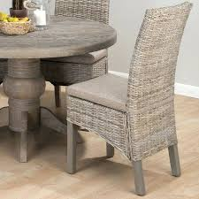 dining chairs nice burnt grey rattan linen polyester fabric