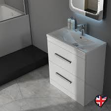 Patello  White Vanity Unit And Basin  Draws Buy Online At - Bathroom basin and cabinet 2