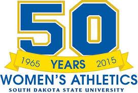 sdsu alumni license plate 50 years of women s athletics at sdsu state south dakota state