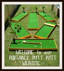 backyard miniature golf course kits home outdoor decoration