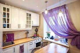 Curtains In The Kitchen by Pretty Purple Kitchen Curtains Are Appealing