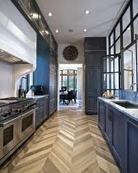 herringbone wood floor kitchen transitional with chevron flooring