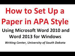 apa style template word 2010