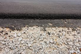 pavimentazione in ghiaia asfalto calcestruzzo e della ghiaia di pavimentazione della