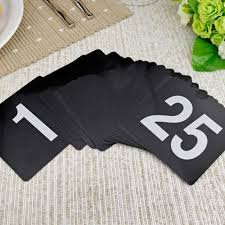 what size are table number cards new 1 through 25 durable plastic table numbers wedding restaurant