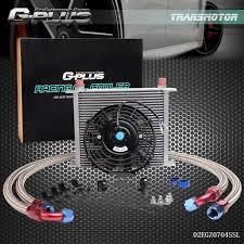 oil cooler fan kit an10 30 row engine oil cooler 7 electric fan kit for bmw e36 e46