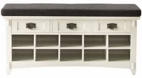 Winslow White Shoe Storage Cubbie Bench Entryway Hall Tree With Storage Bench Foter