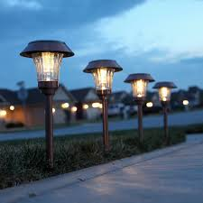 copper solar lights outdoor furniture sulis copper solar path lights set and outdoor landscape