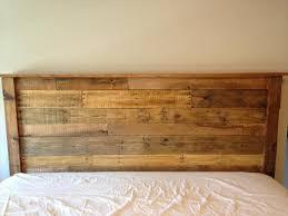 diy king sized pallet wood headboard pallet furniture diy