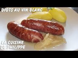 cuisiner les diots diots au vin blanc
