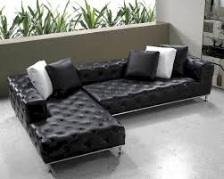 modern tufted leather sofa black modern tufted leather sectional sofa set 44l0687 for tufted