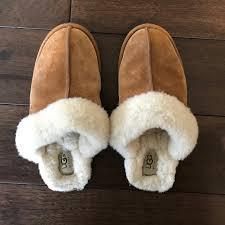 ugg scuffette ii slippers sale 53 ugg shoes ugg scuffette ii slipper in chestnut size 8