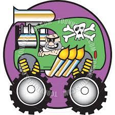 monster trucks clipart cartoon monster truck vector illustration by clip art guy toon