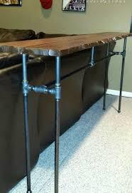 diy industrial pipe sofa table hometalk