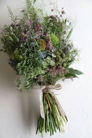 Wedding Flowers Greenery Picture Of Messy Herb And Greenery Wedding Bouquet Wit Wildflowers