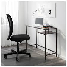 vittsjö laptop table black brown glass 100x36 cm ikea