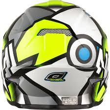 oneal motocross helmet o neal 3 series radium 2017 yellow grey motocross helmet