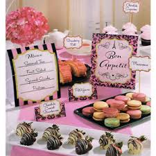 Bridal Shower Buffet by Bridal Shower A Day In Paris Buffet Decorating Kit 12 Wedding