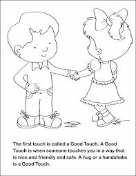 a coloring book geared for teaching children about sexual abuse