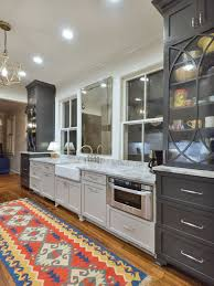Kitchen Charleston Antique White Kitchen Cabinet Featuring Gray Two Tone Gray Cabinet Houzz