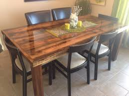 barn wood table with epoxy finish tables pinterest wood