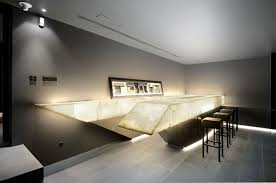 Interior Concrete Walls by Simple Modern Side Table In Rectangular Design Completed With
