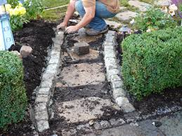 Slate Rock Patio by Building A Stone Walkway How Tos Diy