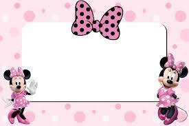 Minnie Mouse Invitation Card Pin By Antonella Simeone On Borders Pinterest