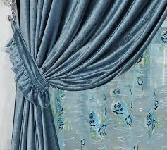 Turquoise Velvet Curtains Online Shop Home Design Modern Blackout Curtain Thick Chenille