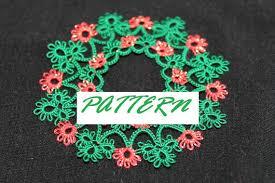 pattern a fabulous tatted wreath 2013 tatting pattern