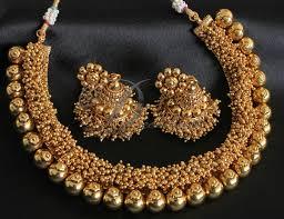 gold beaded necklace set images Necklace set dreamjwell