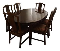 dining room sets 6 chairs thomasville mystique ii dining table u0026 6 chairs chairish