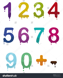 color drop numbers vector mode stock vector 281893751