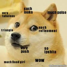 Doge Girl Meme - doge such looks very fabulous much poise triangle such