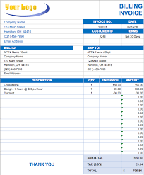 How To An Excel Template Free Excel Invoice Templates Smartsheet