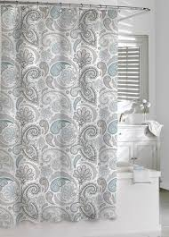 Gray And Teal Shower Curtain Bathroom Awesome Grey Shower Curtain For Bathroom Decoration