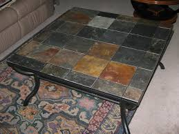 Tile Top Dining Tables Furniture Inspiring Living Room Design Ideas Using Stone Tile Top