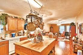 kitchen island with hanging pot rack kitchen island lighting with pot rack kitchenlighting co