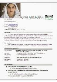 Network Engineer Resume Sample Cisco by Ccna Certified Resume Format Resume Format