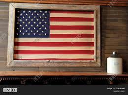 Big American Flags Rustic Image American Flag Framed Image U0026 Photo Bigstock