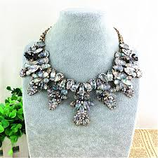 crystal collar statement necklace images Chain vintage necklace collar glass crystal statement necklace jpg